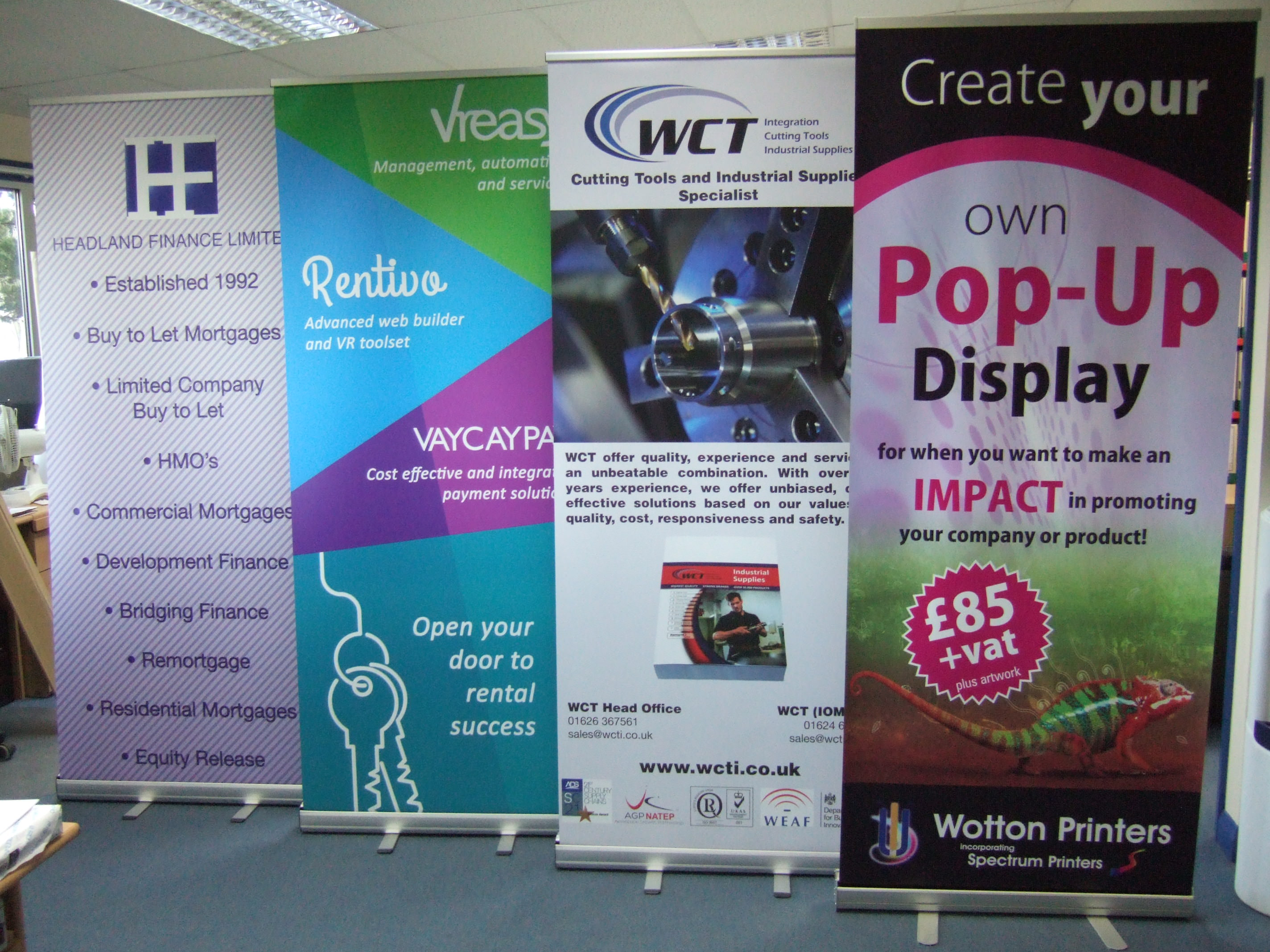 pull up banners - wotton printers