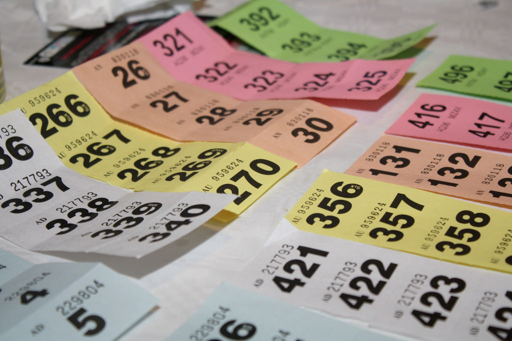Colourful Raffle Tickets